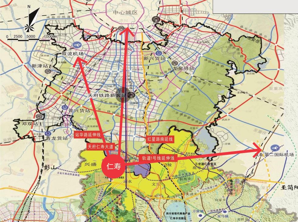 仁寿新城区街道地图